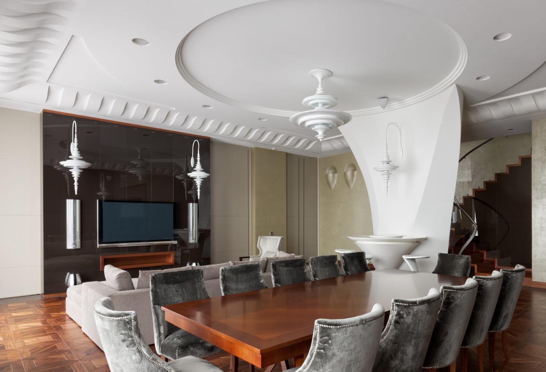 КВ БЮРО Пентхаус на Соколе дизайн фото столовая