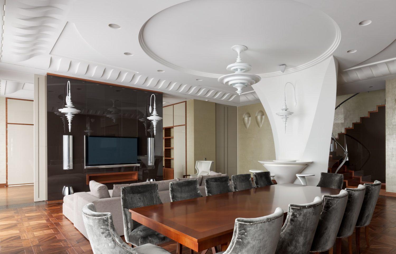 КВ Бюро Архитектурное бюро Пентхаус на Соколе столовая фото