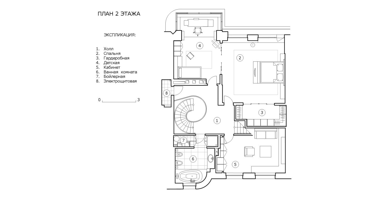 КВ Бюро Пентхаус на Большой Грузинской план 2 этажа