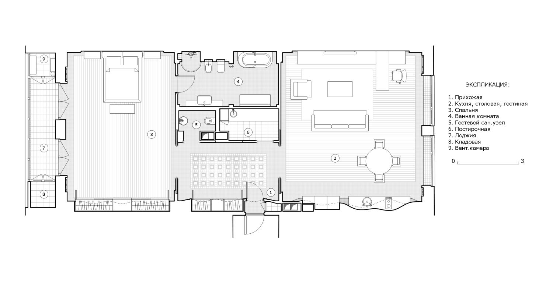 КВ Бюро Квартира на Усачева план