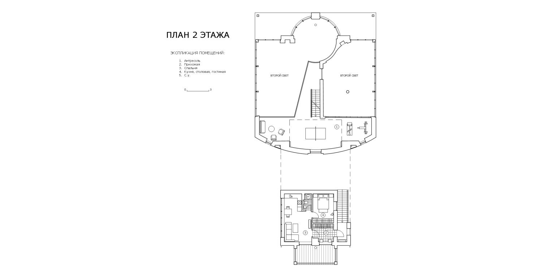КВ Бюро Загородный дом в подмосковье Чиверево. План 2 этажа