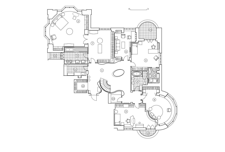 КВ Бюро Пентхаус на Береговой план 1 этажа