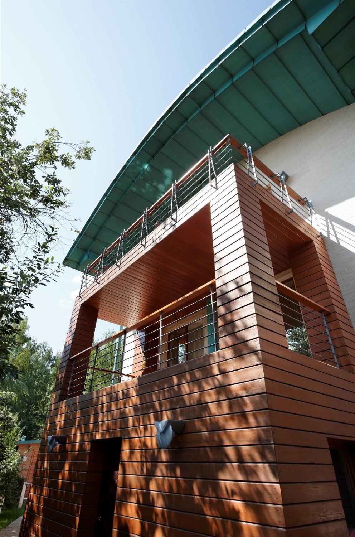 КВ Бюро Загородный дом в подмосковье балкон