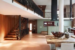 КВ Бюро Загородный дом в подмосковье кухня столовая