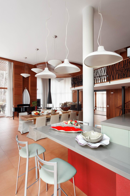 КВ Бюро Загородный дом в подмосковье кухня