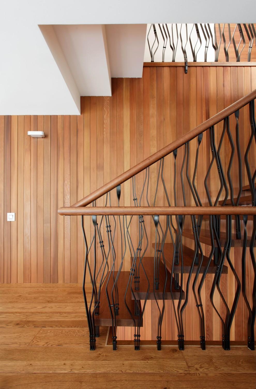 КВ Бюро Загородный дом в подмосковье лестница