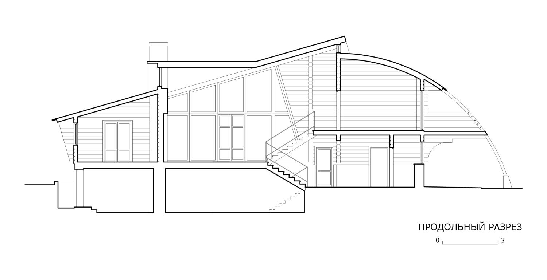 КВ Бюро Архитектурное бюро Дом из бруса. Разрез