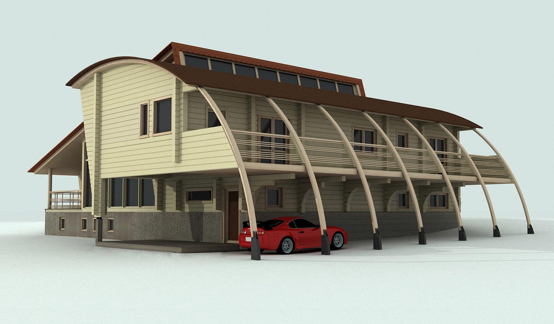 Проект дома из клеёного бруса
