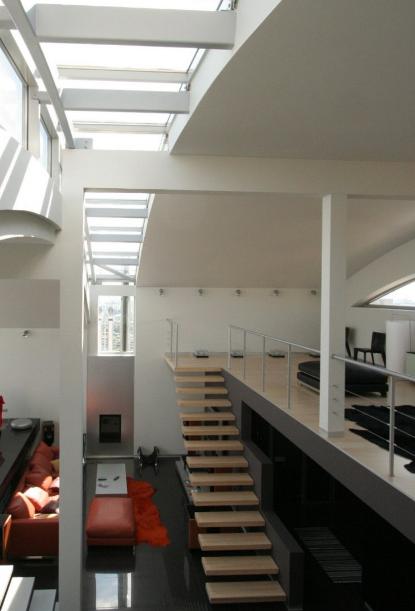 лестница в интерьере пентхауса