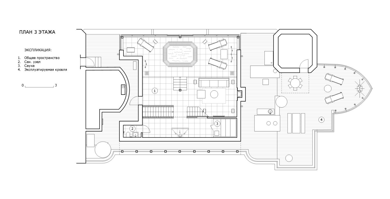 КВ Бюро Пентхаус на Большой Грузинской план 3 этажа